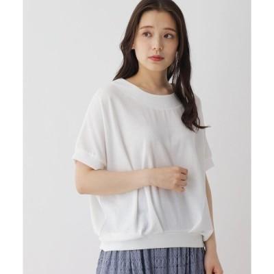 tシャツ Tシャツ 【M-L】タックデザインクルーネックカットソー