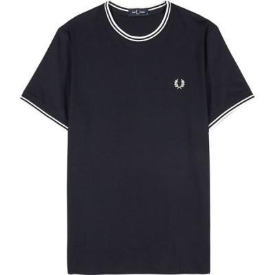 フレッドペリー Fred Perry メンズ Tシャツ トップス M1588 navy cotton T-shirt Navy