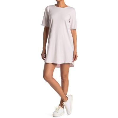 エイリーンフィッシャー レディース ワンピース トップス Crew Neck Short Sleeve T-Shirt Dress CERMC