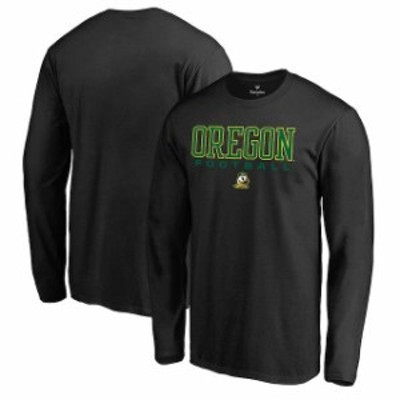 Fanatics Branded ファナティクス ブランド スポーツ用品  Fanatics Branded Oregon Ducks Black True Sport Football Long Sleeve T-Shi