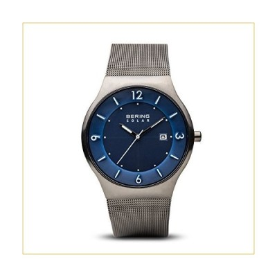 BERING Time | Men's Slim Watch 14440-007 | 40MM Case | Solar Collection | Stainless Steel Strap | Scratch-Resistant Sapphire Crystal | Minimalistic -