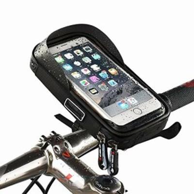 LAMONKE 自転車 スマホホルダー 防水バッグ トップチューブバッグ バイク スマホホルダー スタンド 自転車バッグ 携帯ホルダー ナビホル
