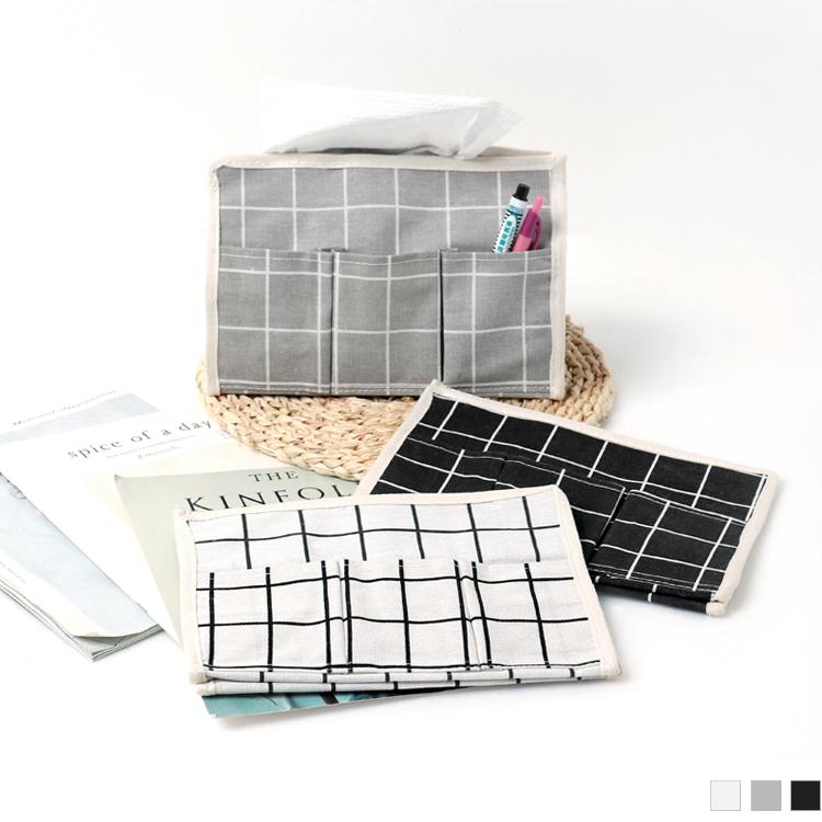 日系棉麻衛生紙雜物收納套