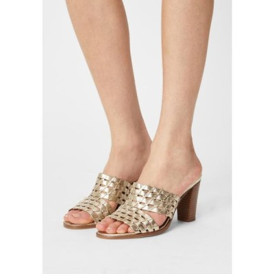 レディース 靴 シューズ VIBONY - Heeled mules - gold