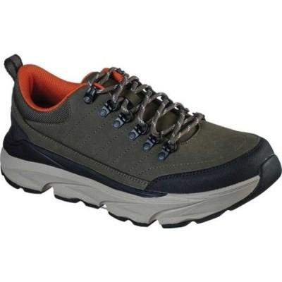 スケッチャーズ スニーカー シューズ メンズ Relaxed Fit Delmont Gunden Sneaker (Men's) Olive