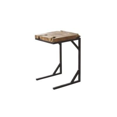 サイドテーブル 天然木天板 スチール脚 ナイトテーブル コンパクトテーブル ナチュラル 北欧 おしゃれ シンプル 高級 TTF-904