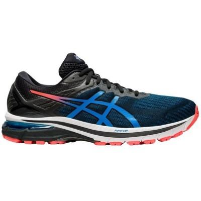 アシックス シューズ メンズ ランニング ASICS Men's GT-2000 9 Running Shoes Black/Blue