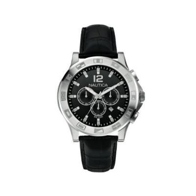海外限定 Nautica A21548G - Men's Watch, Leather, Color: Black