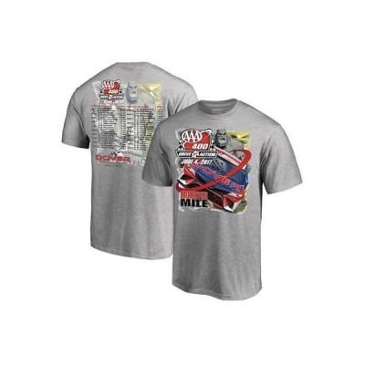 レーシング NASCAR ファナティクス ブランド Fanatics Branded Gray Dover International Speedway Lineup T-Shirt