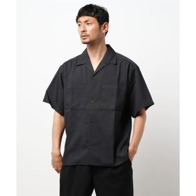 シャツ ブラウス 【BURNER SELECT】ポリトロ両胸ポケットオープンシャツ
