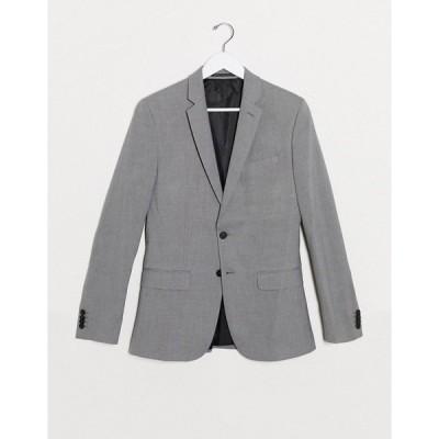 ニュールック メンズ ジャケット&ブルゾン アウター New Look skinny suit jacket in gray Grey