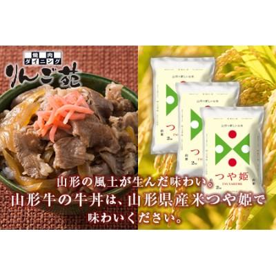 つや姫と山形牛・牛丼の具セット F2Y-1781