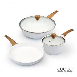 義大利CUOCO北歐白色戀人鍋具組