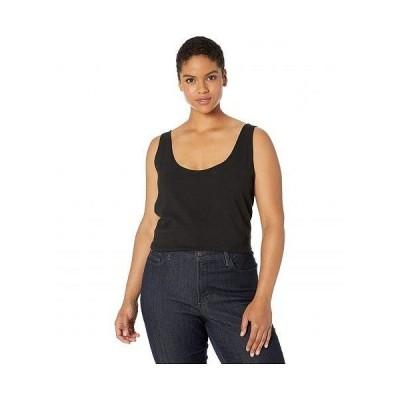 Lysse リセ レディース 女性用 ファッション トップス シャツ Plus Size Cotton Tank Top - Black