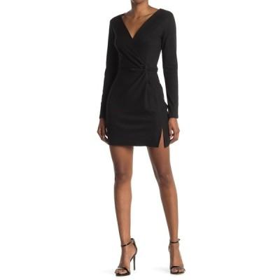 ロウエー レディース ワンピース トップス Olive Wrap Dress BLACK