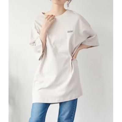 ビス/【予約】/【別注カラー:ラベンダー】【Dickies】ロゴプリントビッグTシャツ/グレー系/M