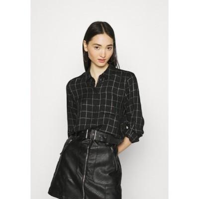 オンリー シャツ レディース トップス ONLANNALIE - Button-down blouse - black/white
