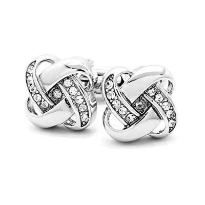 MFYS Jewelry ツイスト型 ノット型 クリスタル 結び目 カフス 専用ジュエリーBOX付