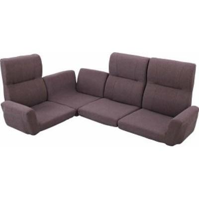 送料無料 ファンクション ソファ LSS-11BR/135790 ローソファ フロアソファ ソファーベッド 座椅