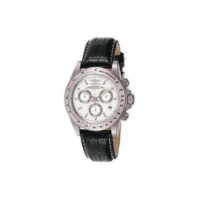インヴィクタ Invicta メンズ 39.5ミリ クロノグラフ ブラック カフスキン ステンレス スチール ケース 腕時計 7031