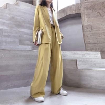 【一部即納あり】スーツ 韓国 ファッション レディース レディス セットアップ パンツスーツ フォーマル オルチャン セットアップ オルチ