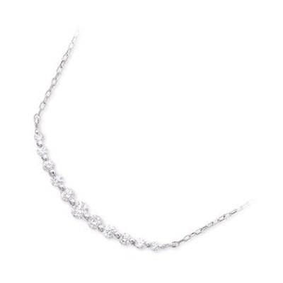 ネックレス レディース Jセレクション ホワイトゴールド スター ダイヤモンド 4月の誕生石 誕生日プレゼント ギフト