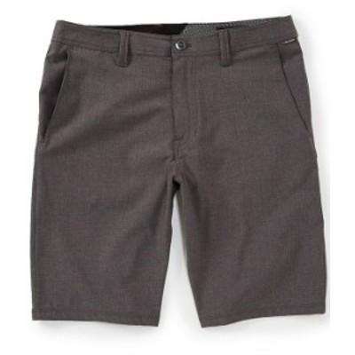 """ボルコム メンズ ハーフパンツ・ショーツ ボトムス Frickin SNT 21"""" Outseam Hybrid Shorts Charcoal Heather"""
