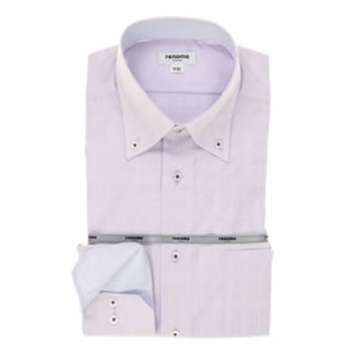 形態安定レギュラーフィット ドゥエボットーニボタンダウン長袖ビジネスドレスシャツ