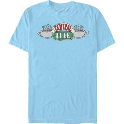 フィフス サン Fifth Sun メンズ Tシャツ トップス Friends Central Perk Coffee Mug Logo Short Sleeve T-Shirt Baby Blue