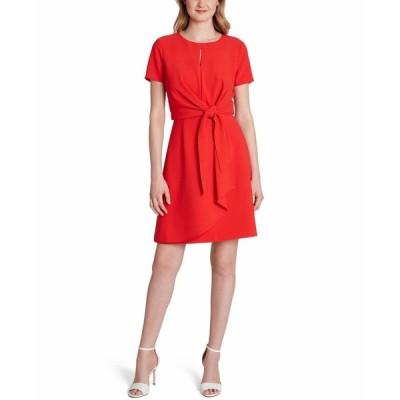 タハリ Tahari ASL レディース ワンピース ワンピース・ドレス Tie-Front Sheath Dress Rio Red
