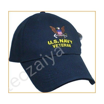 US Navy Embroidered Military Cap - Navy Veteran OSFM並行輸入品