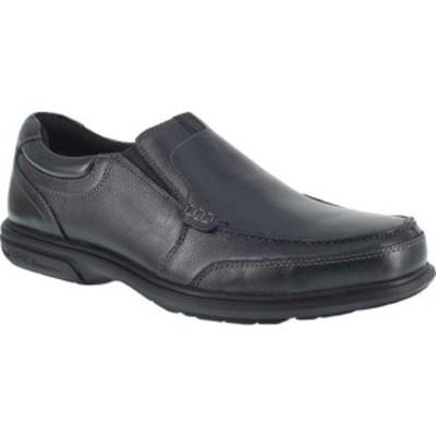 フローシャイム メンズ ブーツ&レインブーツ シューズ FE2020 Loedin Steel Toe Slip-On EH Work Shoe Black Leather