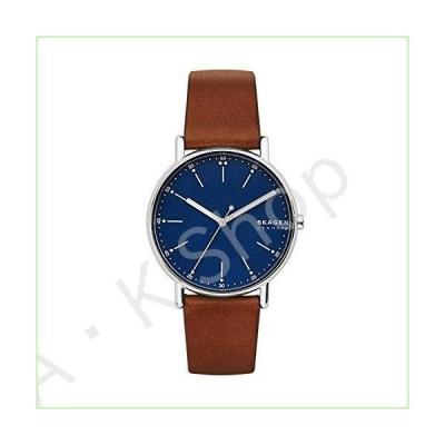 Skagen Men's SKW6355 Signatur Brown Leather Watch--並行輸入品--