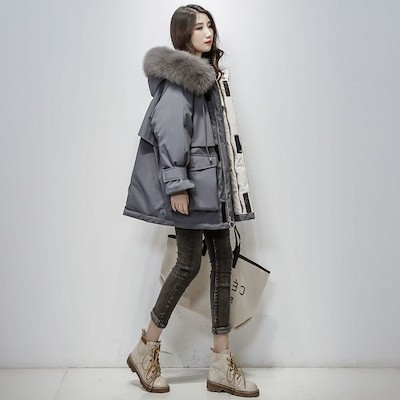 限定高品質レディース 韓国ファッション ダウンジャケット コート アウター ダウン 高品質 体型カバースカートスカート 長袖 着痩せ効果 ロング 大人気 ロング丈 長袖
