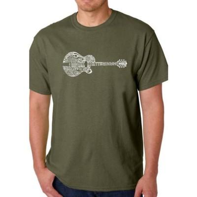 エルエーポップアート メンズ Tシャツ トップス Word Art Graphic T-Shirt - Country Guitar