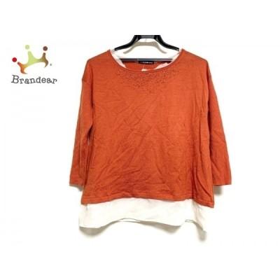 ヴィヴィアンタム 長袖セーター サイズ0 XS レディース オレンジ×アイボリー ビーズ     スペシャル特価 20201216