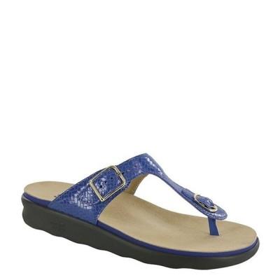 サス レディース サンダル シューズ Sanibel Weave Print Leather Thong Sandals