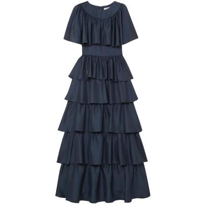 DEITAS ロングワンピース&ドレス ダークブルー 34 シルク 100% ロングワンピース&ドレス