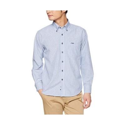 フィラ FILA フィラ Men's オックス チェックBDシャツ FH7478 シャツ メンズ ブルー 日本 M (日本サイズM相当)