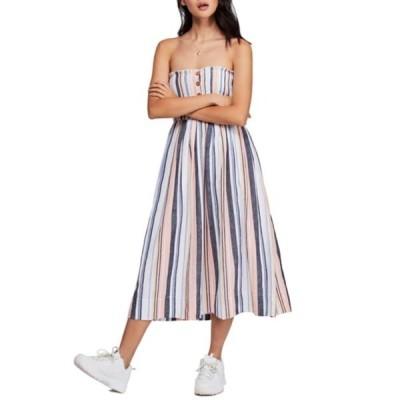 フリーピープル レディース ワンピース トップス Lilah Strapless Midi Dress STRIPE