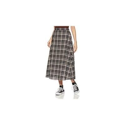 ロペピクニック スカート WEB限定綿麻チェックロングスカート レディース GDC29100 クロメイン 日本 38 (日本サイズM相当)