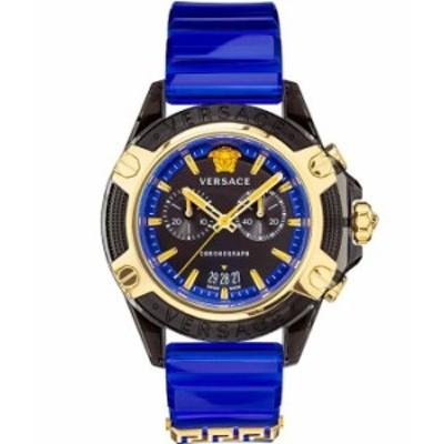ヴェルサーチ メンズ 腕時計 アクセサリー Men's Icon Active Bracelet Watch Blue