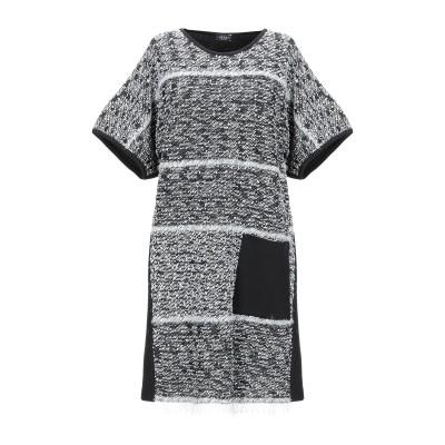 NEERA ミニワンピース&ドレス ブラック 40 バージンウール 50% / ナイロン 30% / ナイロン 20% ミニワンピース&ドレス