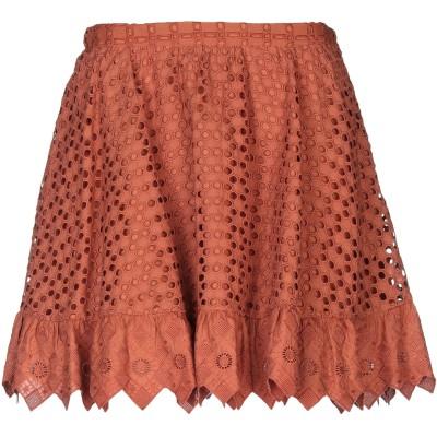 ピンコ PINKO ミニスカート 赤茶色 42 コットン 100% ミニスカート