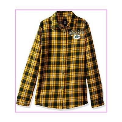 【送料無料】Green Bay Packers 2016 Wordmark Basic Flannel Shirt - Womens Medium【並行輸入品】