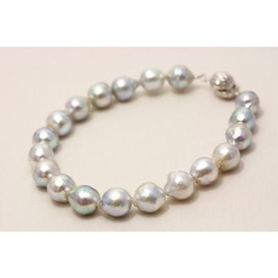 アコヤ真珠パールブレスレット 8.0-8.5mm ナチュラルカラー