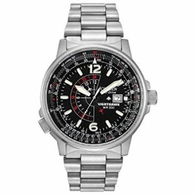 腕時計 シチズン 逆輸入 Citizen Men's Eco-Drive Promaster Nighthawk Dual Time Watch with Date, BJ7000