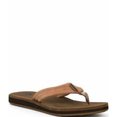 クイックシルバー メンズ サンダル シューズ Men's Carver Suede Flip Flops Tan