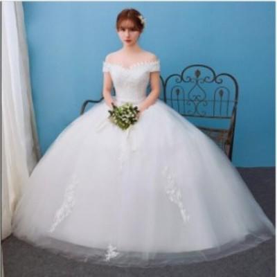 Vネック 着痩せ ウエディングドレス 結婚式 ブライダル 冠婚 ワンピース イブニングドレス ロング フォーマル 二次会 パーティードレス