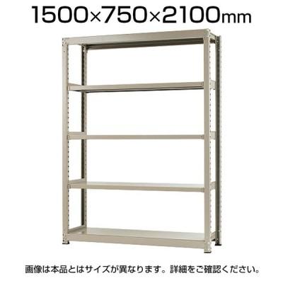 本体 スチールラック 中量 300kg-単体 5段/幅1500×奥行750×高さ2100mm/KT-KRM-157521-S5